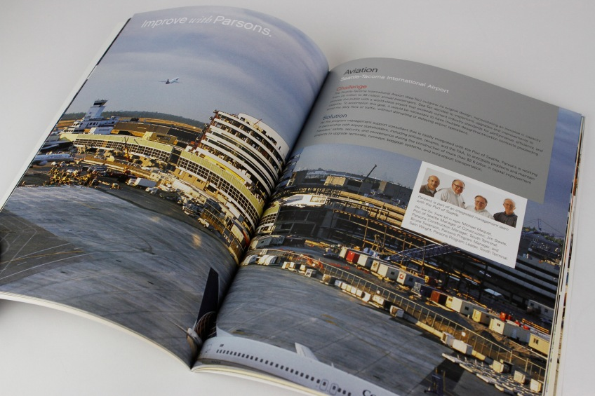 Parsons capabilities brochure inside spread number 1.