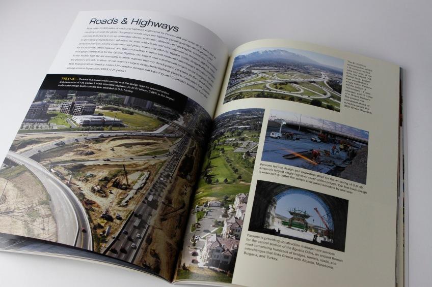 Parsons capabilities brochure inside spread number 2.