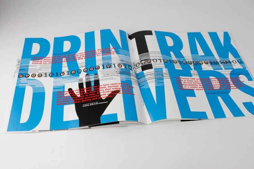 Picture of Printrack Annual Report inside spread number 4.