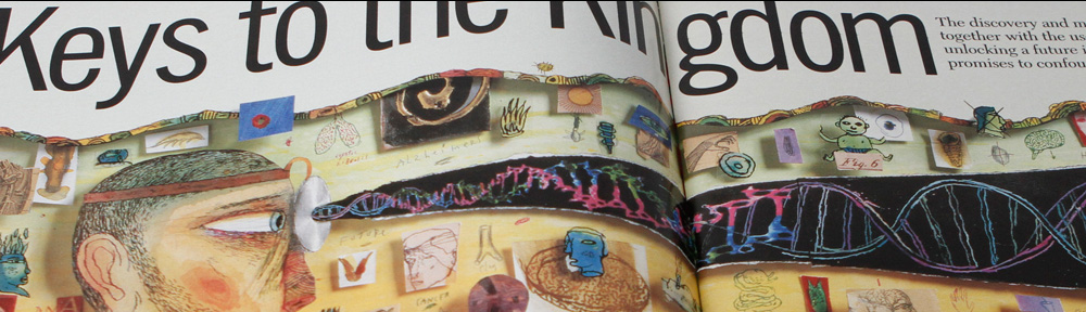 Cropped image from inside spread of TIME Magazine.